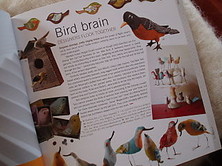 Hurrah Craft Selvedge magazine Birds