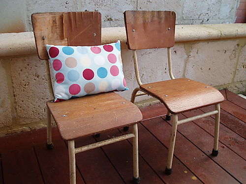 Hurrah craft kids chairs & duckcloth fabric cushion