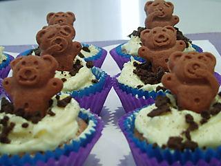 Hurrah craft teddy cupcakes RSPCA